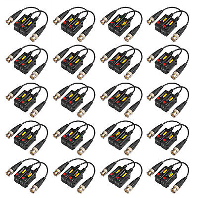 20Pairs Passive HD BNC Video Balun Transceiver Transmitter AHD/TVI/CVI/CVBS (Passive Video Balun Transceiver)