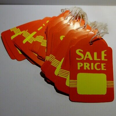50 Sale Price Red Yellow Tags With String Uses Merchandise Yard Sales Garments