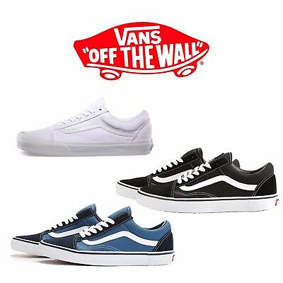 Vans Old Skool Classic Skate Shoe Men Women Unisex Suede Canvas Black Navy White