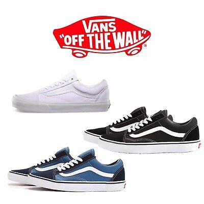 Vans Old Skool Classic Skate Shoe Men Women Unisex Suede Canvas Black Navy White