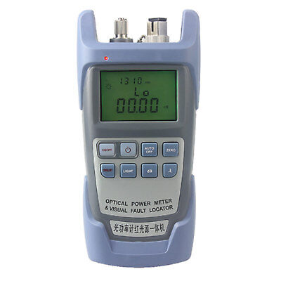 10km Laser Power Fiber Optic Power Meter Cable Tester Visual Fault Locator 10mw