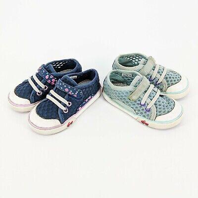 See Kai Run Lot of 2 Saylor Shoes Blue & Aqua Girls Kids Size: 7 Water Safe