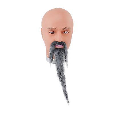 FAKE GREY ORIENTAL MAN WIZARD BEARD & TASH MOUSTACHE Mens Fancy - Fake Grey Beards