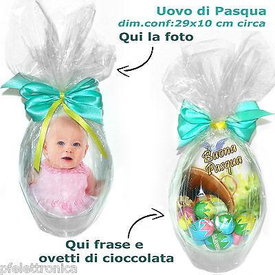 Uova di Pasqua personalizzato con foto ovetti di cioccolata Auguri Buona Pasqua