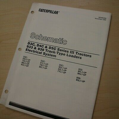 Caterpillar D3c D4c D5c 933 939 Tractor Crawler Electrical Schematic Manual Shop