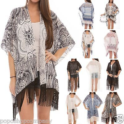 Chiffon Kimono Dress (Women's Fashion Swimwear CoverUps Top Dress Chiffon Kimono Cardigan with)