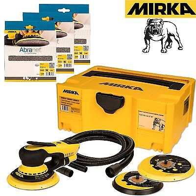 Mirka DEROS 5650CV Electric Sander Kit 125/150mm Orbit 5.0 + 30 Abranet Discs