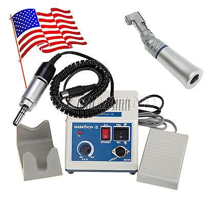 US Dental Marathon 35K RPM Electric Micromotor N3 + Contra Angle Handpiece ARK1