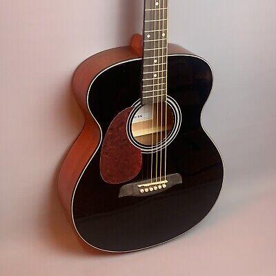NEW: Brunswick BFL200 Grand Auditorium Acoustic Guitar 🎸Black 🎸 *Left Handed*