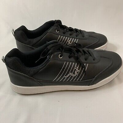 Woodworm Golf Shoes Size 10 Mens Black And White Souls Spike -