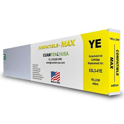 Roland Ecosol Max Compatible Yellow Ink 440ml Cartridge Esl3-4ye Made In Usa