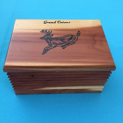 Cedar Souvenir Box From Grand Tetons National Park Wyoming USA