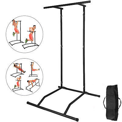 Portable Pull Up Dip Station Gym Bar Power Tower w/bag Exercise Equipment Multi