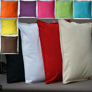 cushion covers plain 100 cotton black white cream red ebay