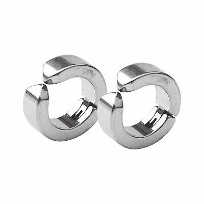Non-Piercing Clip On Fake Men Women Ear Stud Cuff Hoop Earrings Stainless Steel Earrings