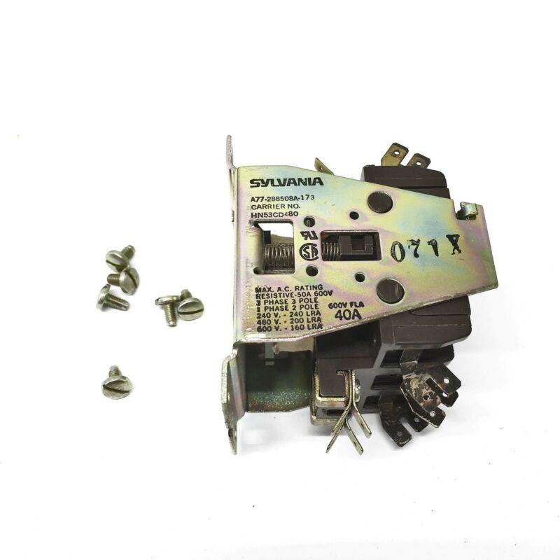 Sylvania/Carrier Definite Purpose Contactor A77-288508A-173 (HN53CD480) NOS