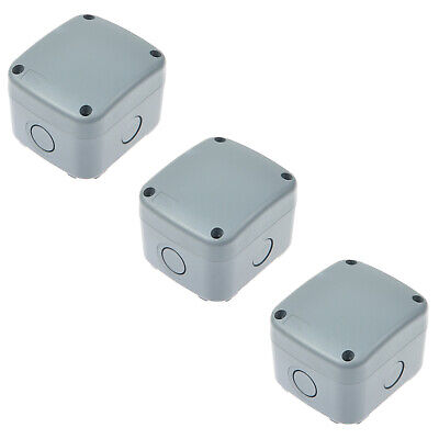 3pk Weatherproof Junction Box Cable Switch Connector Enclosure Case Ip66 Rated