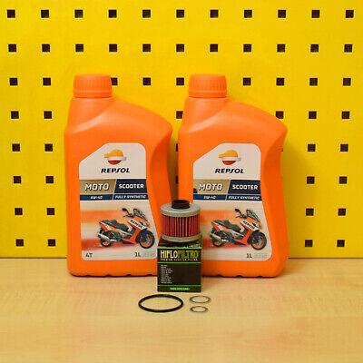 Aprilia Leonardo 125 150 Oelwechselset Filtro de Aceite Repsol Scooter 5W-40