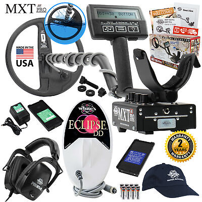 Whites Mxt All Pro Detector Holiday Bundle 6x10 Eclipse Coil Headphones More
