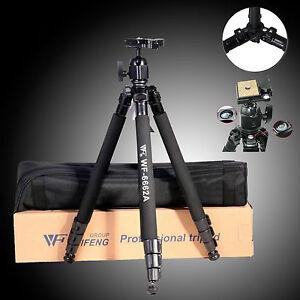 Professional Ball Head Tripod For Digital Canon Nikon Sony Camera DSLR WF-6662A