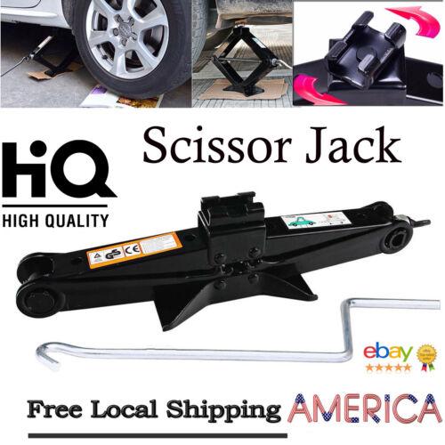HI-Q 2Ton Tonne Scissor Jack Wind Up Lift for Car Van With Crank Speed Handle US