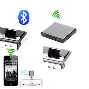 New iPhone iPod iPad 30 Pin Bluetooth Wireless Music Audio Receiver Adapter UK