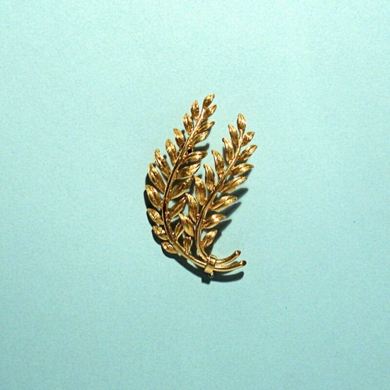 TIFFANY & CO. SOLID 18K YELLOW GOLD BROOCH / PIN