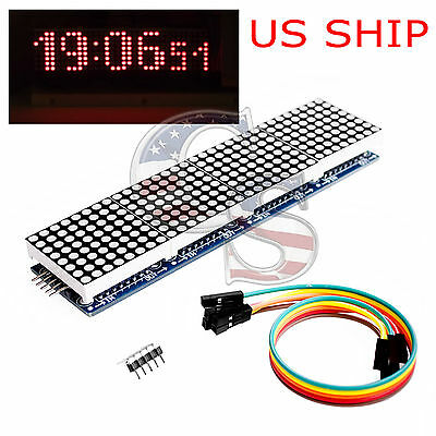 MAX7219 Microcontroller 4 In 1 Display LED 5P Line Dot Matrix Module Arduino US