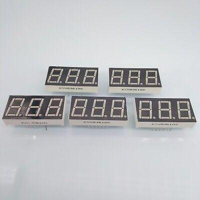 Us Stock 5pcs 0.56 Inch 3 Digit Red Led Display 7 Segment Common Cathode