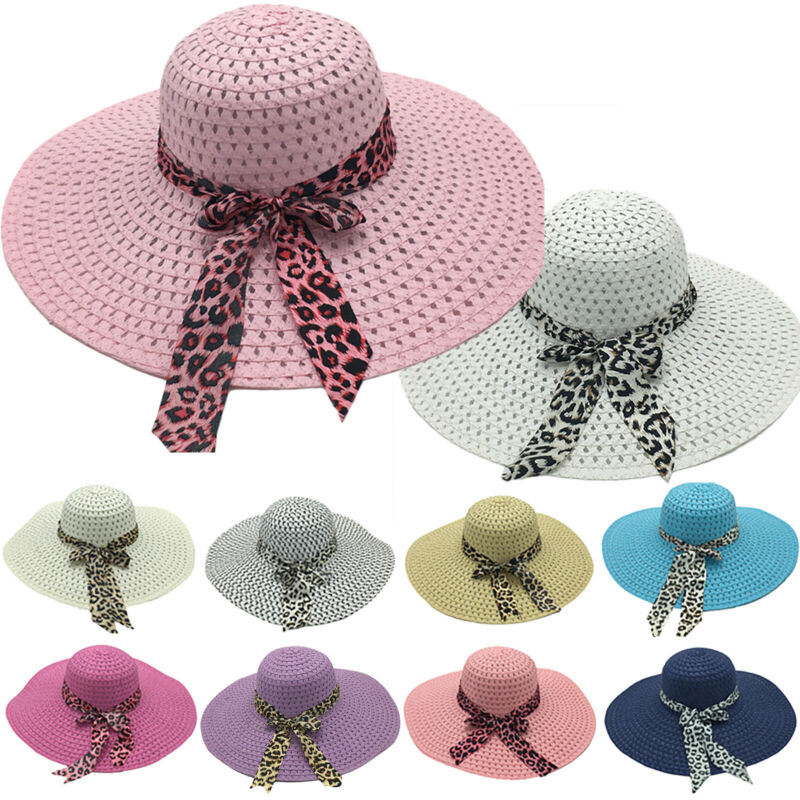 Fashion Summer Women's Ladies Beach Sun Visor Wide Brim Flop