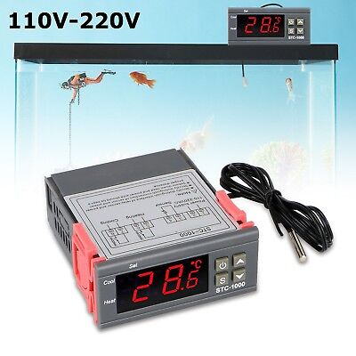 110v 10a Mini Digital Stc-1000 All-purpose Temperature Controller With Sensor Us
