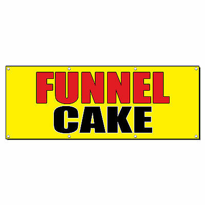 Funnel Cake Food Fair Promotion Business Sign Banner 4 X 2 W 4 Grommets