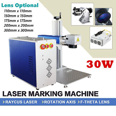 30w Fiber Laser Marking Machine Engraver Machine With Rotary Axis For Tumbler