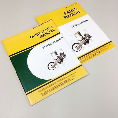 Operators Parts Manual Set For John Deere 71 Flexi Planter Owners Catalog Corn