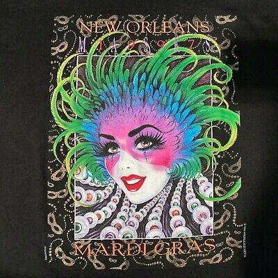 Vintage 1997 New Orleans Mardi Gras Masks Andrea - Herren Mardi Gras Maske