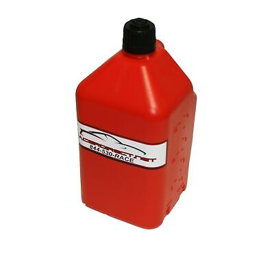 Generator Fuel Storage 5 Gallon Utility Fuel Dump Jug With Fill Hose Red
