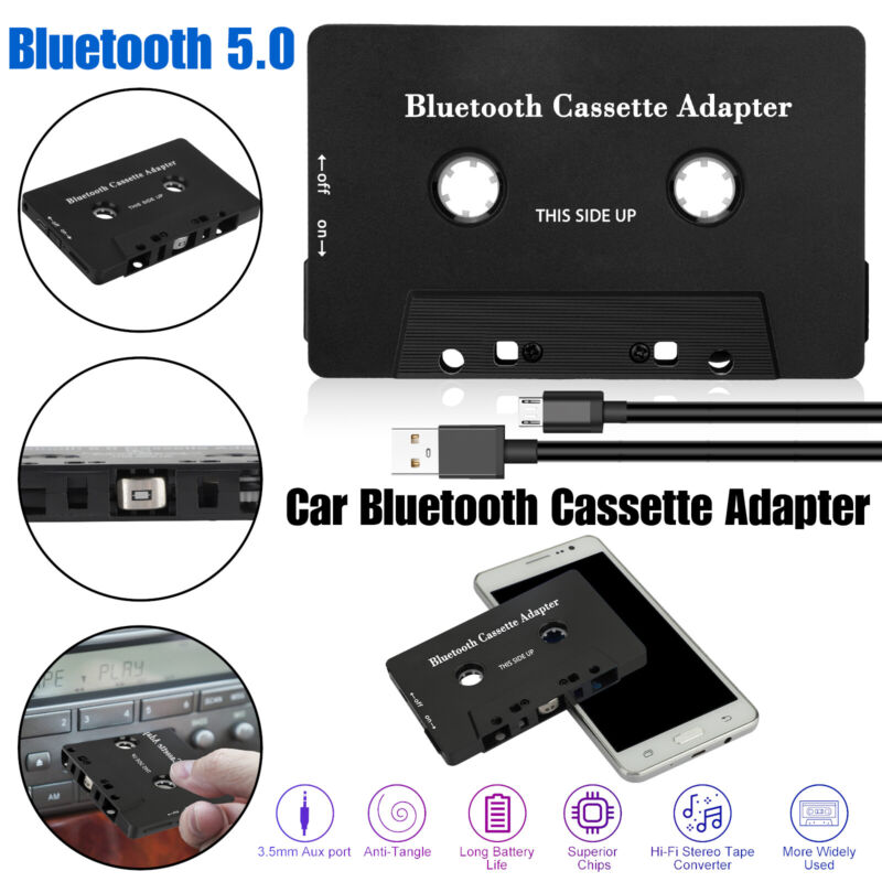 Bluetooth 5.0 Car Audio Stereo Cassette Tape Adapter To Aux For iphone ipod MP3