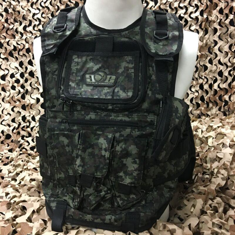 NEW Gen X Global GxG Tactical Paintball Woodsball Vest Pod Harness - Digi Camo