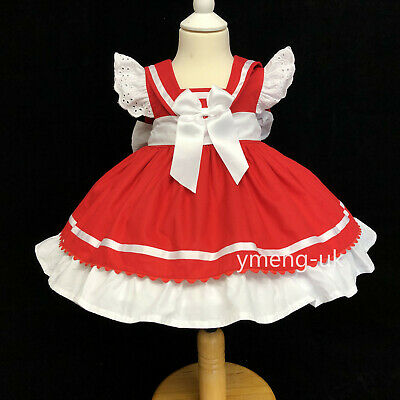 New Beautiful Wee Me Baby Girl Red Spanish Puff Ball Dress with Bows Romany](Beautiful Girl With Dress)