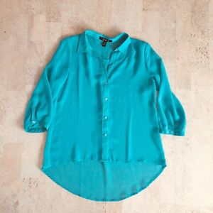 Turquoise Sheer Top, Size Small