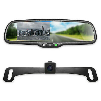 "Master Tailgaters Rear View Mirror with 4.3"" LCD Screen and 170° Backup Camera"