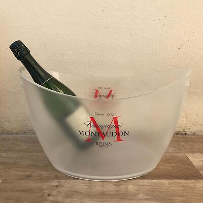 Vintage French Champagne French Ice Bucket Cooler Basin MONTAUDON BIG 10021826](Big Ice Bucket)