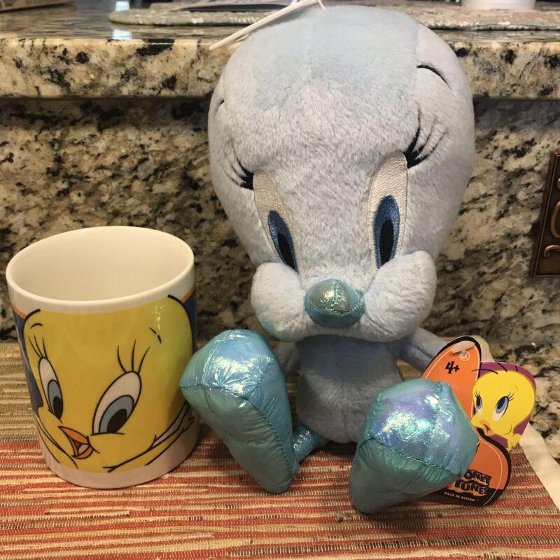 Looney Tunes Tweety Bird Mug and Blue Plush Tweety