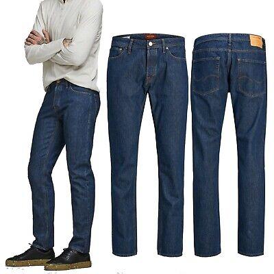 Jack & Jones Mike Original Mens Regular Fit Jeans Smart Casual Blue Denim Pants