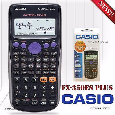 Scientific Calculator Casio Fx 350Es Plus 252 Functions Full Dot Display New