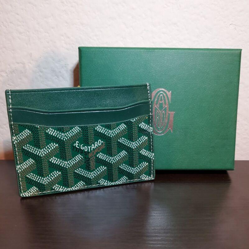Goyard Card Holder Wallet Dark Green