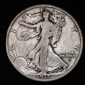 1917D Walking Liberty Half Dollar