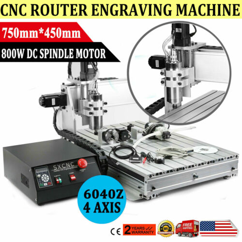 USB 4 AXIS 1.5KW CNC 6040Z Router Engraver Wood Drill/Millin