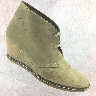 J. Crew MacAlister Desert Tan Suede Lace Up Wedge Heel Ankle Boots - Women's 10 for sale  New Haven