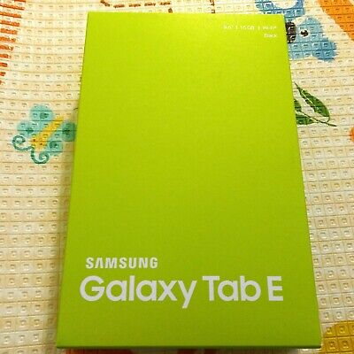 "New Samsung Galaxy Tab E 9.6"" Quad Core 16 GB Wifi Android Tablet Black SM-T560"